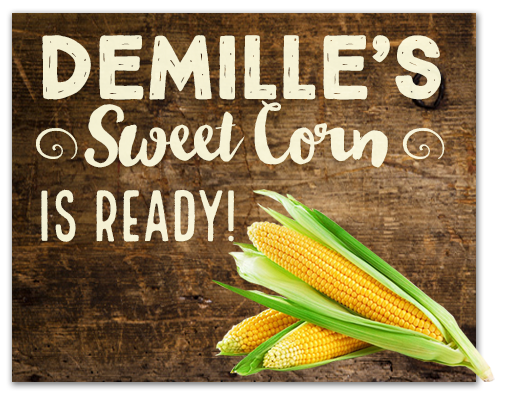 DeMille's Sweet Corn Sign